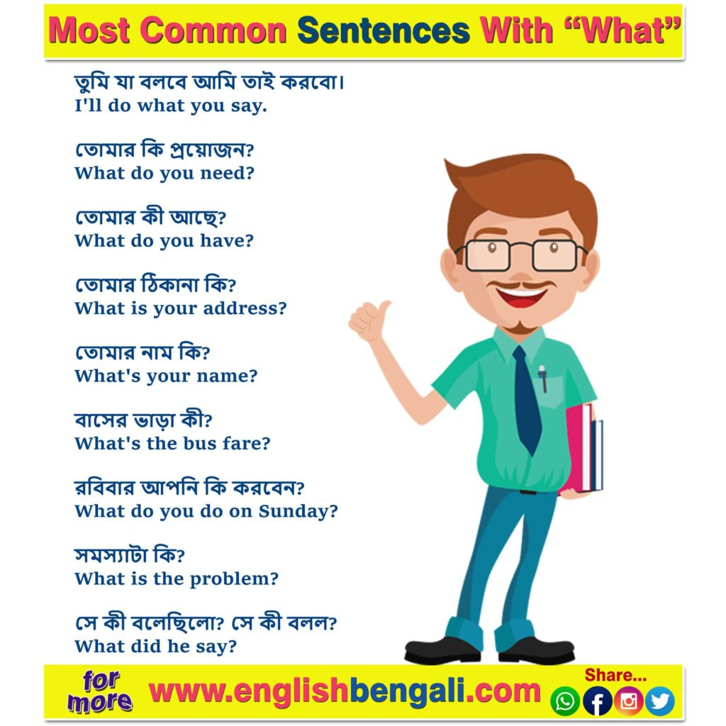 Most Common Sentences With What