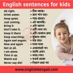 100 simple English sentences for kids